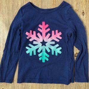 Carter's shimmer snowflake tee girls 4T